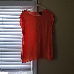 Melon colored blouse